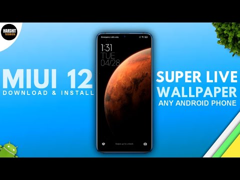 Download MIUI 12 Live Wallpapers For Any Android Device | Miui12 Earth & Mars Live Wallpaper No ROOT