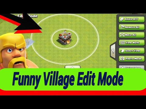 Funny Village Edit Mode-clash of clans||Glitch in Village mode in coc