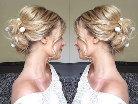 Wedding Hair Chignon Mariée Moderne Angeliahair