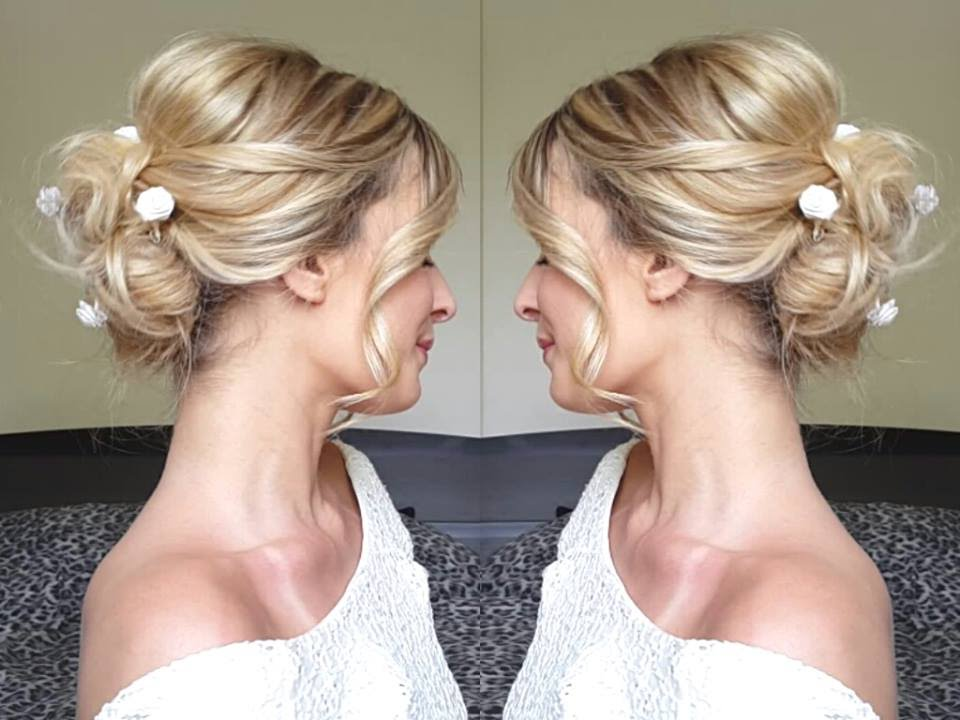 Wedding Hair Chignon Mariee Moderne Angeliahair Youtube