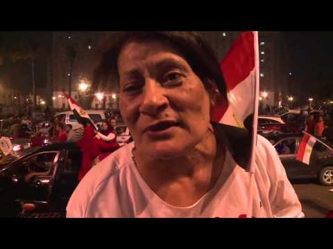 Supporters celebrate as Egypt's Sisi wins overwhelming majority