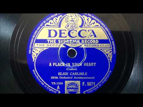 "Elsie Carlisle - ""A Place in Your Heart"" (1934)"