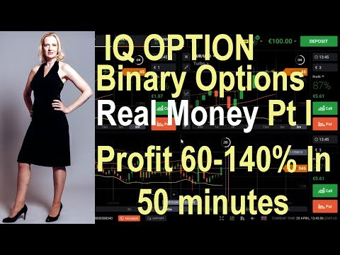 IQ Option Real Money: Part 1 - Profit 60-140% in 50 minutes