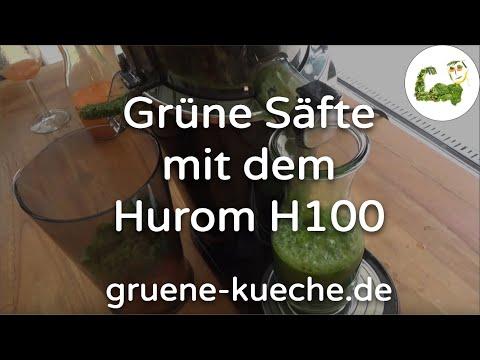 Teil 3 - Grünes Blattgemüse mit dem Hurom H100 entsaften