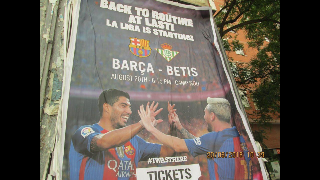 Барселона бетис 20 08 2016 голы