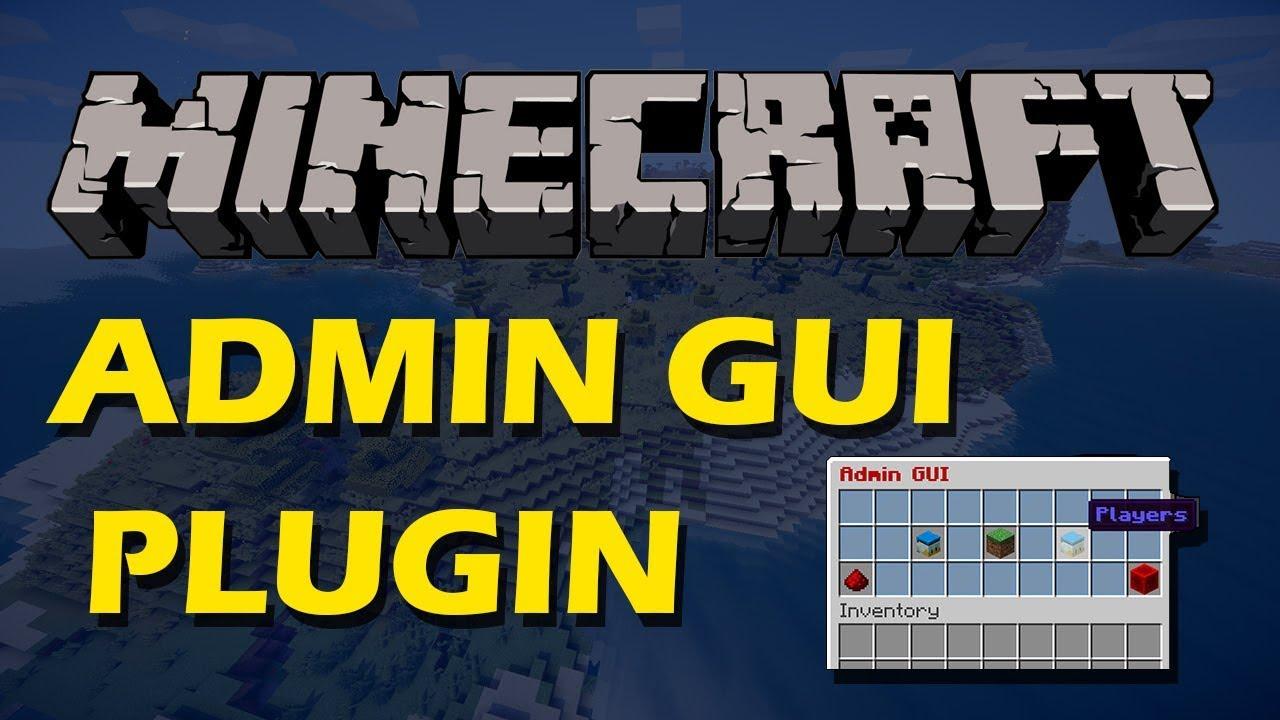 Admin GUI SpigotMC High Performance Minecraft