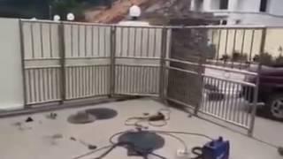 видео Виды конструкций и приводов откатных ворот