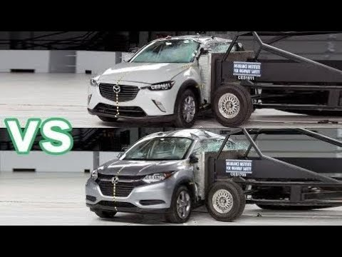 Top Cars 2018 Honda Hr V Vs 2017 Mazda Cx 3 Crash Test Iihs Rating