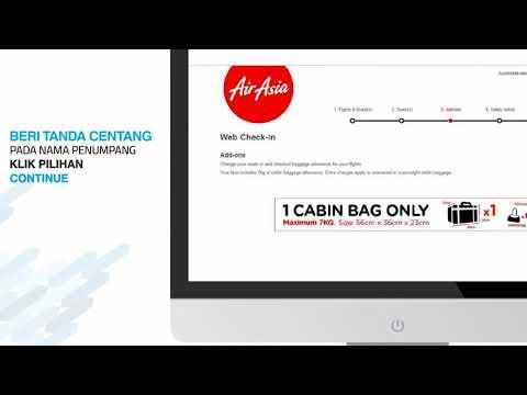 Tutorial Check In Online Airasia