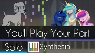 You'll Play Your Part - |SOLO PIANO TUTORIAL w/LYRICS| -- Synthesia HD
