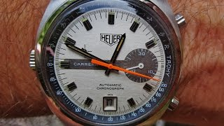 Heuer Carrera Automatic Chronograph Ref  1553s