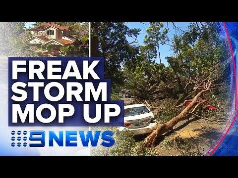 Power Outages Across Sydney Amid Freak Storm Clean-up | Nine News Australia