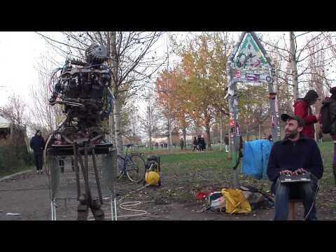 Sir Elton Junk Robot Man by Inventor Kolja Kugler at Mauerpark Berlin Germany