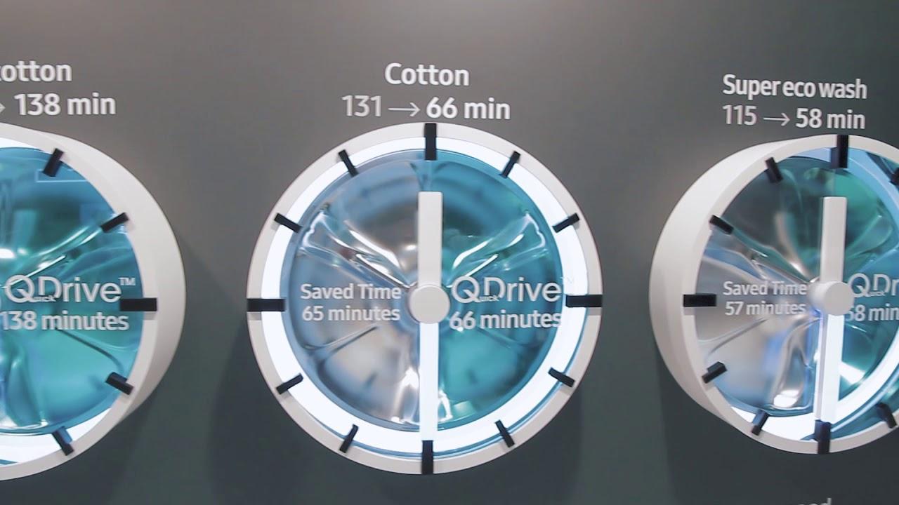 Samsung Q Drive - The Smartest Washing Machine YET?! - YouTube