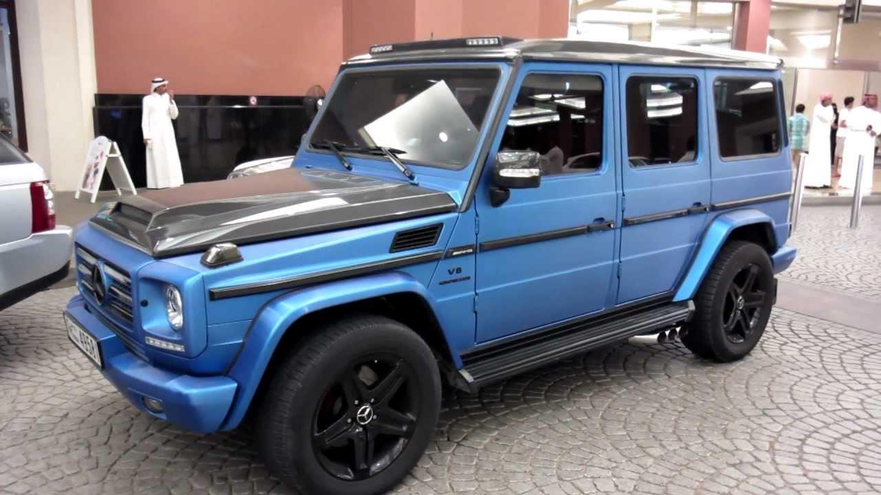 gun metal blue g55 amg customized