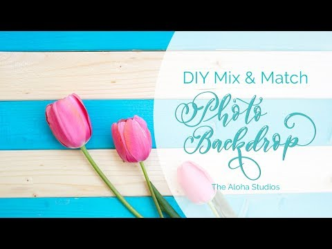DIY Mix & match wood backdrop for flatlay photography, The Aloha Studios