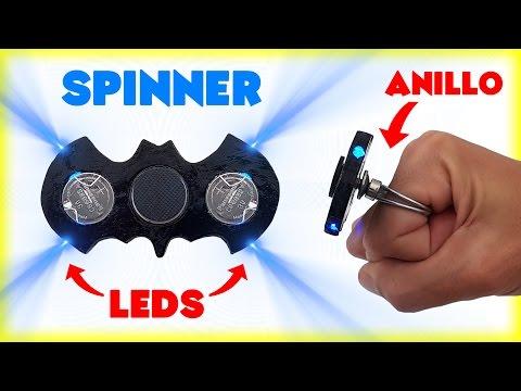 FIDGET SPINNER con LEDS y SOPORTE de ANILLO