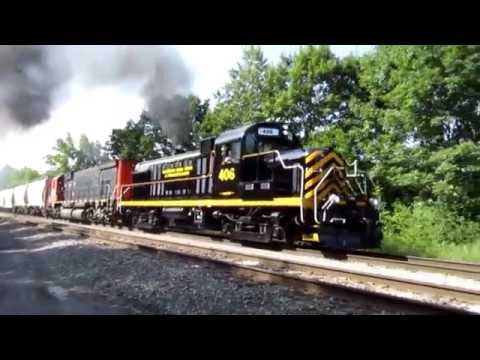 Chasing The WNY&P #406 From Salamanca To Olean 7-6-16