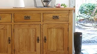 Rustic Oak 3 Door Sideboard - PineSolutions