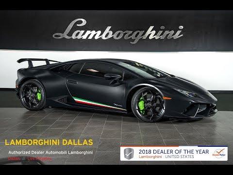 2018 Lamborghini Huracan Performante Nero Nemesis L1130