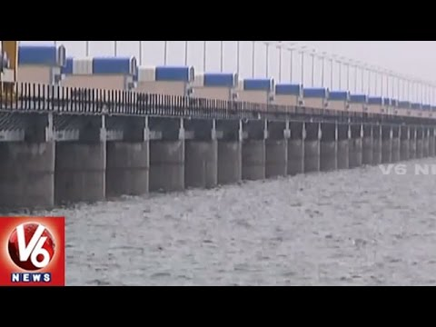 Project Water Levels Increased With Inflow | Heavy Rains In Telangana | V6 News