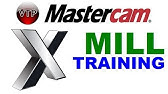 mastercam basic milling lesson 01 opening a part - YouTube