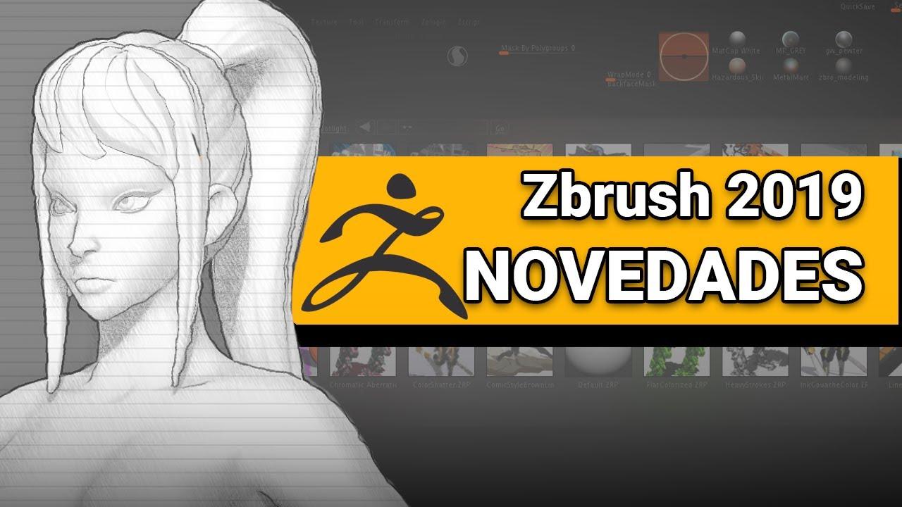 Las nuevas funciones de Zbrush 2019 ya han sido reveladas