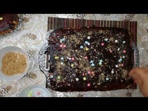 تحضير كيكة الشوكولاته سهلة وسريعة للاطفال من صنع زنوبة 👌😀