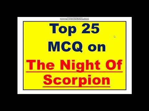 MCQ on The Night of Scorpion by Nissim Ezekiel