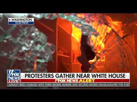 St. John's church near White House set on fire (Fox News clip)