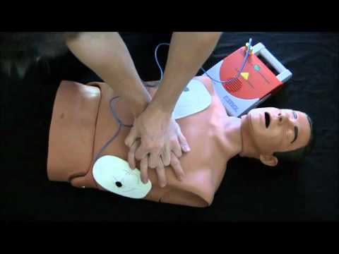 AED Training Video: Adult New guidelines 2010 CPR Automated External Defibrillator How to video