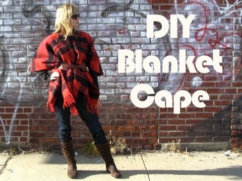 Diy Blanket Cape Youtube