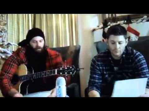 Jason Manns and Jensen Ackles Christmas Fun - YouTube