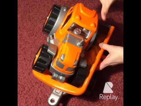 ОБЗОР !Трактор с прицепом Технок - качественный трактор для игры в доме и в песке.