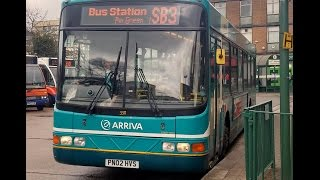 arriva the shires volvo b10ble wright renown 3311 pn02hvs route sb4 bus station shephall circular