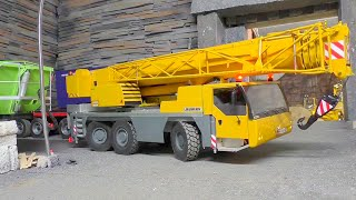 RC CRANE l LIBHERR LTM 1055 at work, Strong K-700