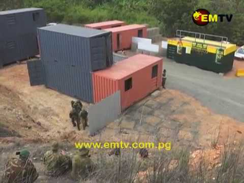 PNGDF Platoon Stage Mock Building Clearance to Demonstrate Urban Operation Training Skills