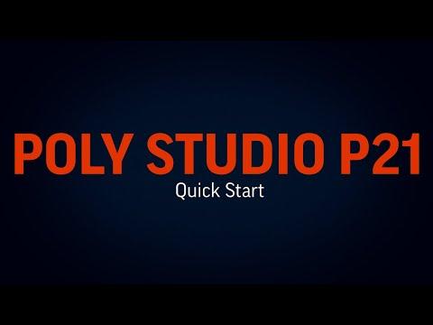 Poly Studio P21: Quick Start