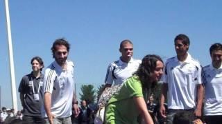 Real Madrid Stars with Lebanese , Kuwaiti , Egyptian , Qatari and Tunisian kids