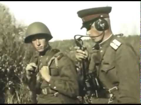 Color footage of Soviet soldiers being exposed to high levels of radiation.