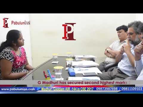 CSE 2017 AIR Rank 144 - Madhuri Gaddam