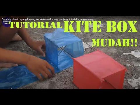 Cara Membuat Layang Layang Kotak-kotak/Persegi panjang. tutorial layangan