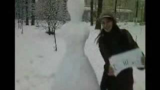 Leningrad Oblast Christmas Winter and Slavic Dollface the Snow Princess