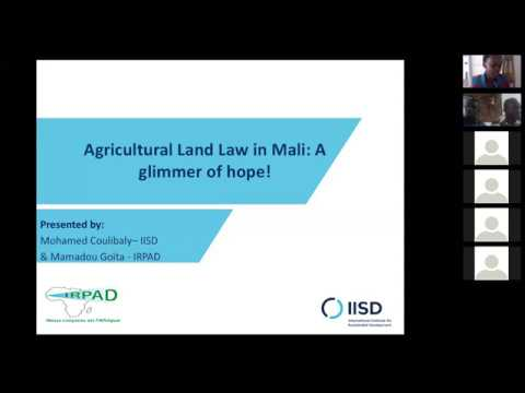 Webinar: Agricultural land law in Mali