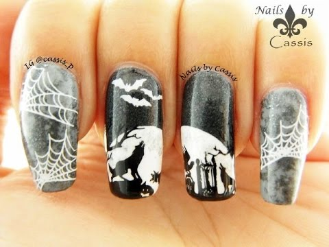 Howling Wolf Stamping Nail Art