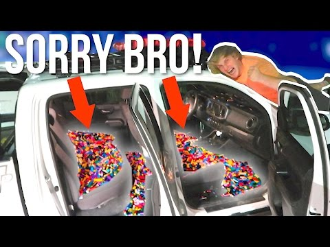Thumbnail: FILLED MY BROTHER'S TRUCK WITH 1,000,000 LEGOS! **Prank Wars** #LoganVSJake