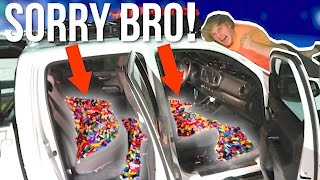 FILLED MY BROTHER'S TRUCK WITH 1,000,000 LEGOS! **Prank Wars** #LoganVSJake