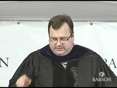 Reid Hoffman's 2012 Commencement speech at Babson College