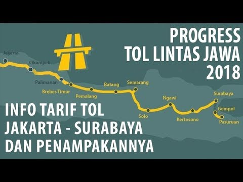 PROGRESS TOL TRANS JAWA 2018: TARIF & WUJUD TOL JAKARTA-SURABAYA
