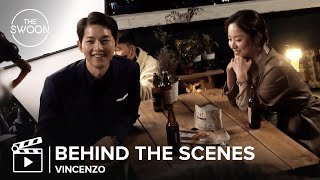 [Behind the Scenes] Song Joong-ki and Jeon Yeo-been huddle up on a cold day | Vincenzo [ENG SUB]